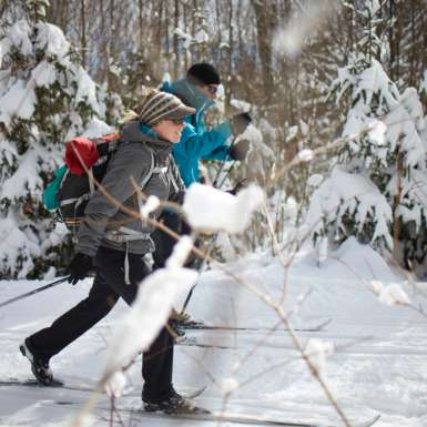 Cross-country skiing through AMC's Maine Woods