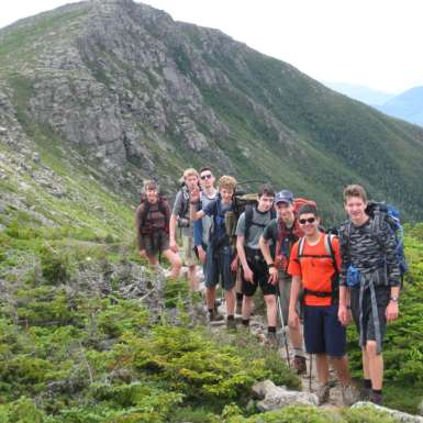 Teen Wilderness Adventures participants enjoying time above tree-line.