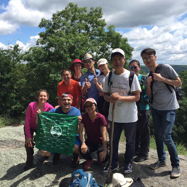 Happy hikers after completing Wilderness First Aid, June 2018