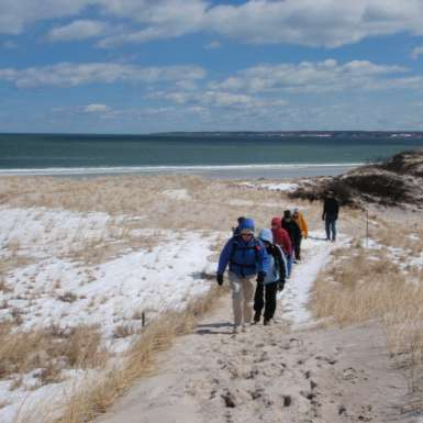 Spring hike at Crane Beach
