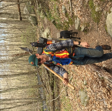 Doing some trail work on Ben Utter and River Trails.