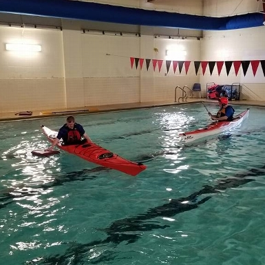 Sea Kayak Pool Rolling