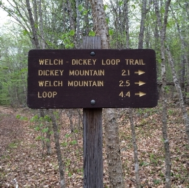 Welch-Dickey trail sign
