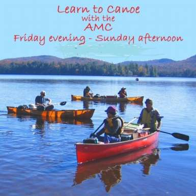Canoe Instruction on Moving Water