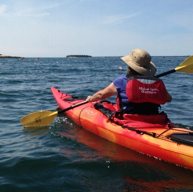 Sea Kayaking on the coast of Maine