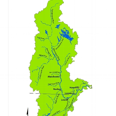 Watershed of the Merrimack River