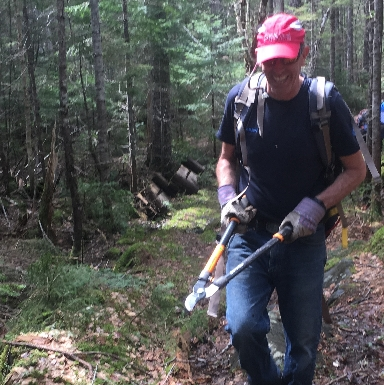 Volunteer work trails at the Maine Woods near Little Lyford.