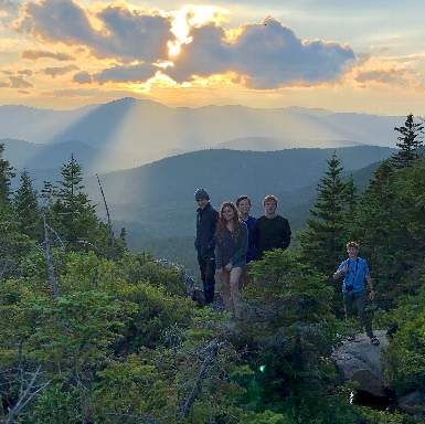 Enjoying a sunset from deep within the White Mountain National Forest!