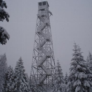 Fire tower on top of Wakely Mountain