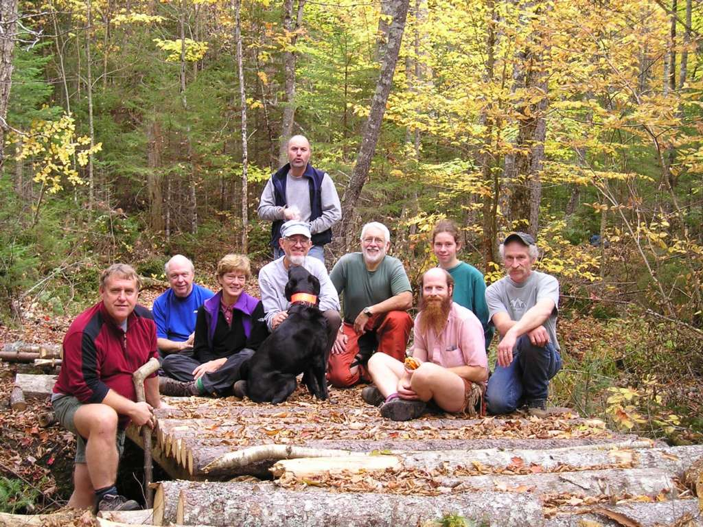 Trail work volunteers from 10 years ago