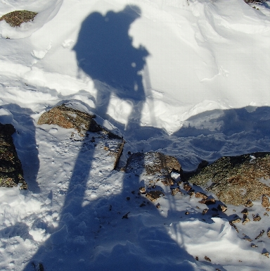 Winter hike above treeline