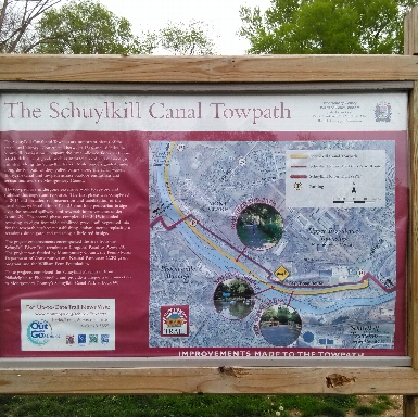 Sign for Schuylkill Canal Towpath