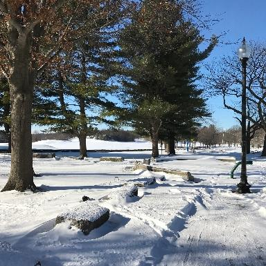 Franklin Park Golfcourse in Winter
